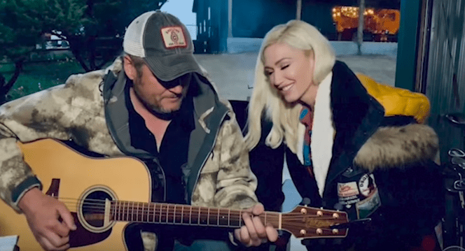 """Blake Shelton and Gwen Stefani sings """"Nobody But You"""" for the ACM Music Special on April 5, 2020. 