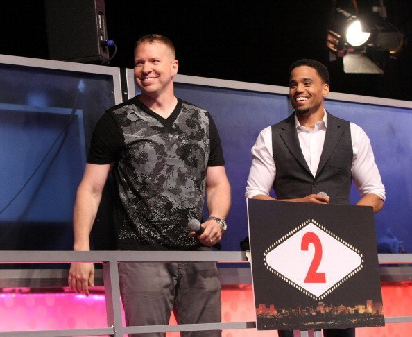 Actors Gary Owen and Michael Ealy visit 106 & Park at BET studio in New York City | Photo: Getty Images