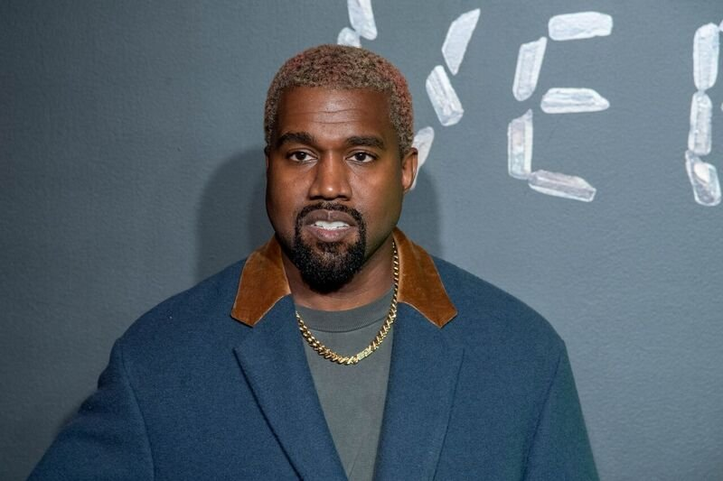 A portrait of Kanye West at a Versarce fashion show in New York in December 2018 | Source: Getty Images/GlobalImagesUkraine
