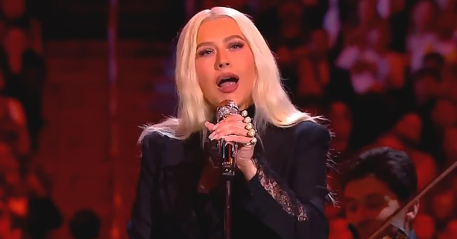 Christina Aguilera Pays Touching Tribute to Kobe Bryant as She Performs 'Ave Maria' at the Late NBA Star and Daughter's Memorial