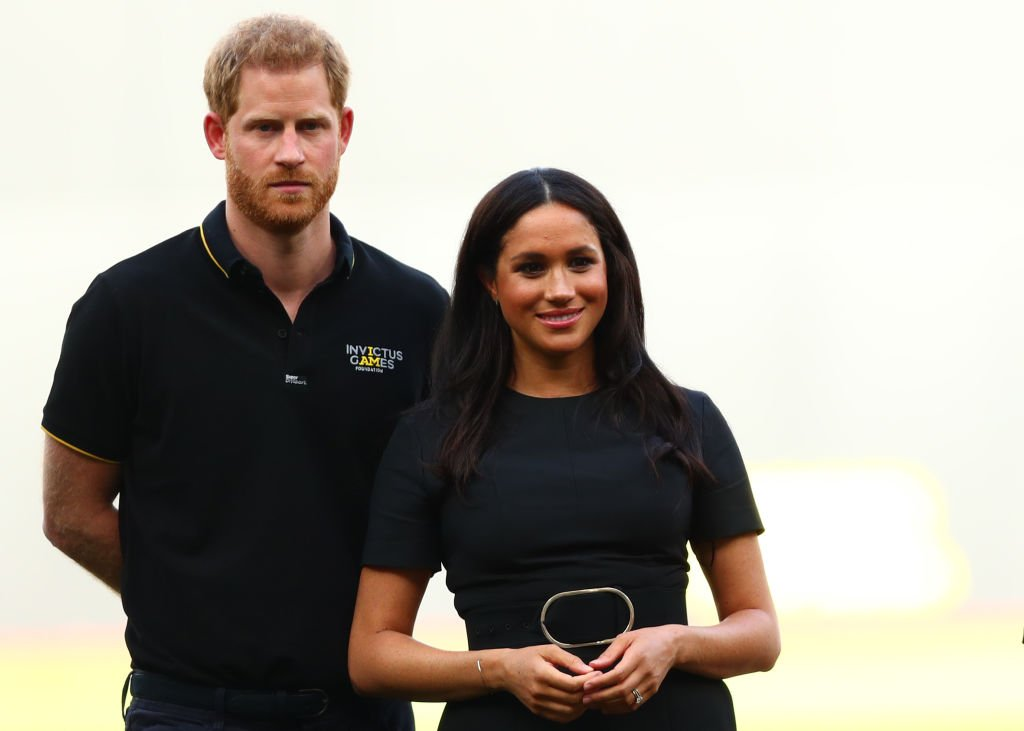 Prince Harry and Meghan at the baseball game in London Stadium on June 29 | Photo: Getty Images
