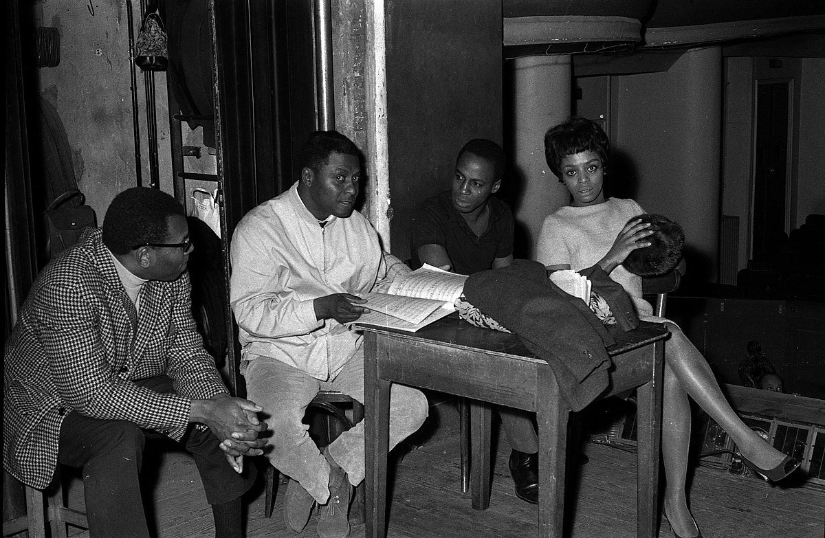 George Goodman, William Ray, Robert Guillaume and Olive Moorefield, repetition of Porgy and Bess, Théâtre du Capitole. | Photo: Wikimedia Commons Images