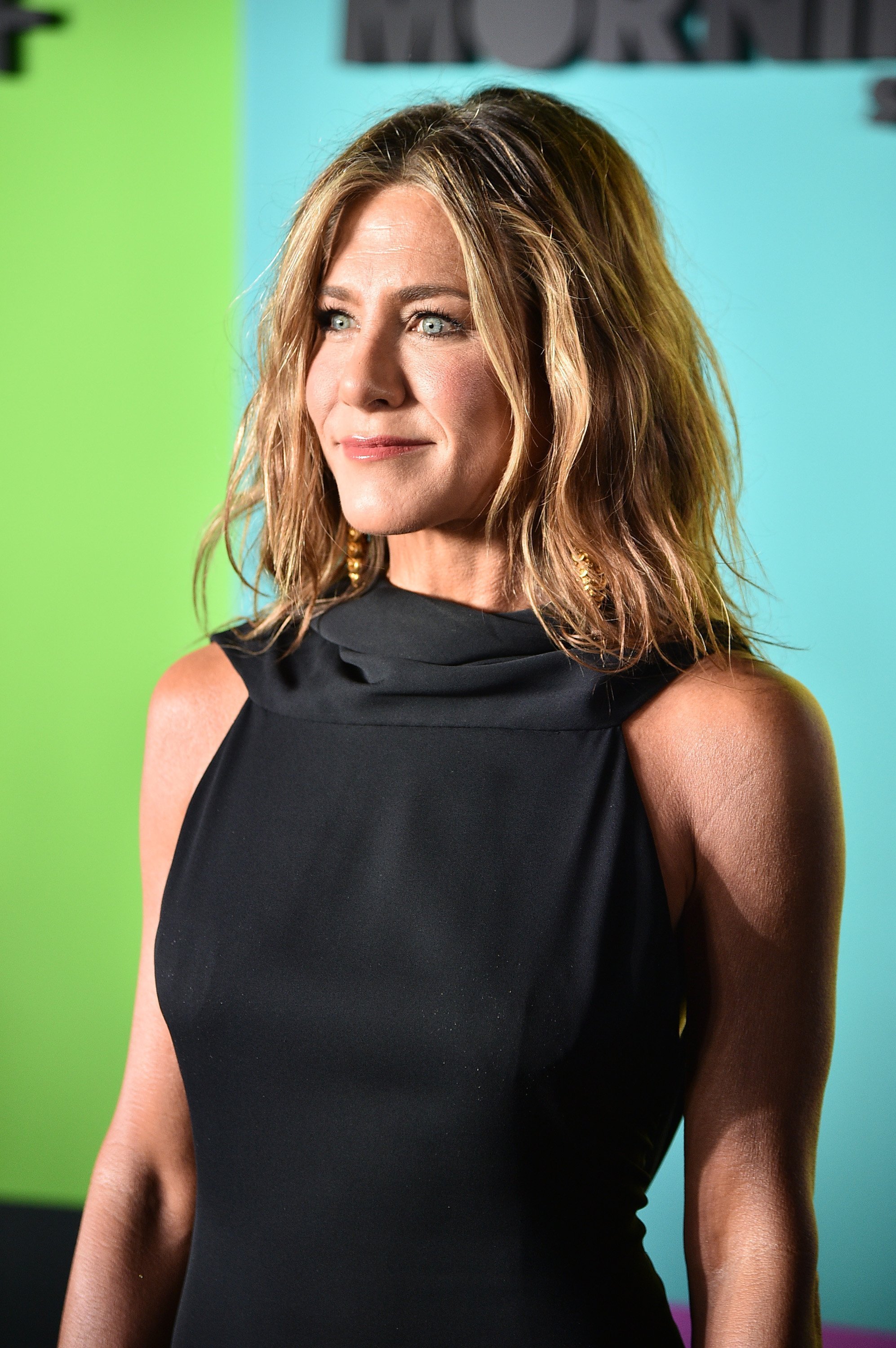 "Jennifer Aniston attends the Apple TV+'s ""The Morning Show"" World Premiere on October 28, 2019. 