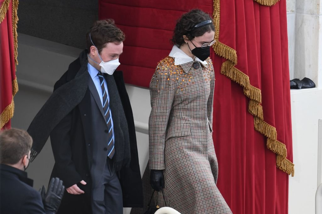 Ella Emhoff and her brother Cole pictured at the Inauguration Day on January 20, 2021.   Photo: Getty Images