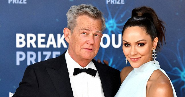 Katharine McPhee & David Foster Celebrate 2nd Anniversary At Indoor Pool with Their Son Rennie