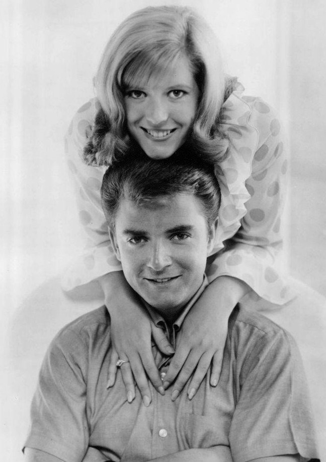Tim Considine and Meredith MacRae who portrayed sally on the show 'My Three Son's"