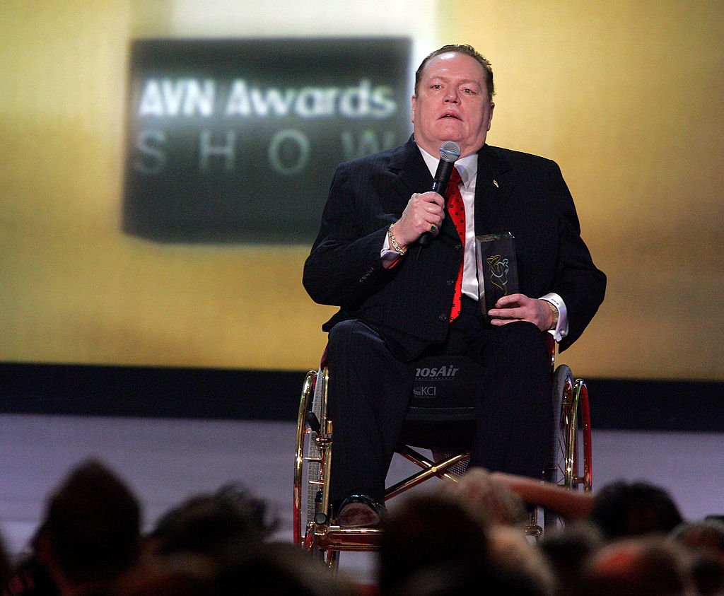 Hustler magazine publisher Larry Flynt at the Hall of Fame Founders award at the Adult Video News Awards Show at the Venetian Resort Hotel and Casino January 7, 2006. | Photo: Getty Images