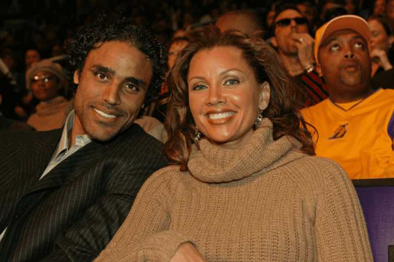 Rick Fox and Vanessa Williams during the 2004 NBA All Star Game Weekend on February 15, 2004   Photo: Getty Images