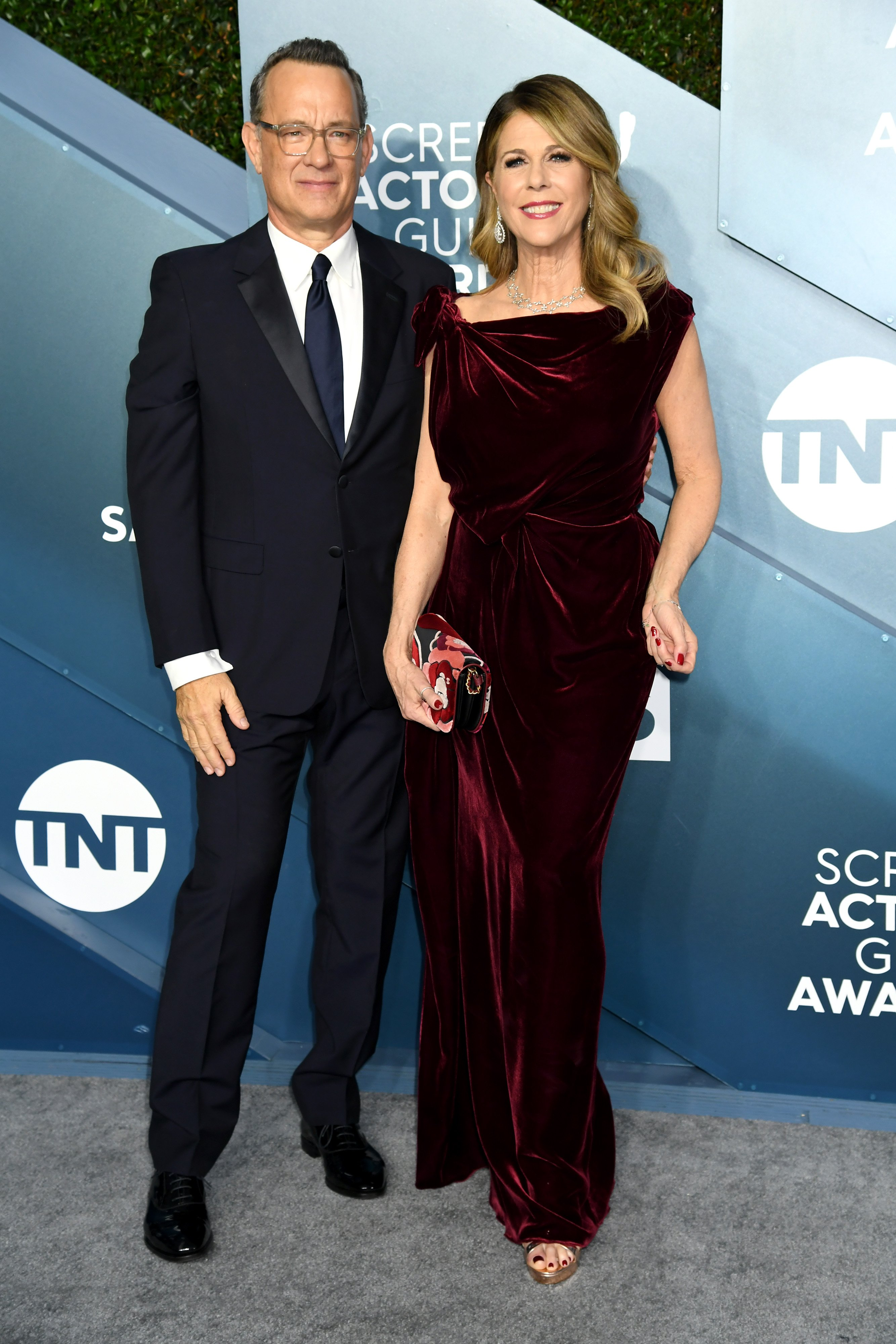Tom Hanks and Rita Wilson attends the 26th Annual Screen ActorsGuild Awards on January 19, 2020, in Los Angeles, California.   Source: Getty Images.