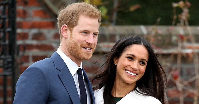 Prince Harry and Meghan Markle during an official photocall to announce their engagement,  November 2017 | Source: Getty Images
