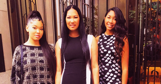 Kimora Lee Simmons' Daughters Ming & Aoki Lee Flaunt Gorgeous Curls for Baby Phat Ad Campaign Shoot