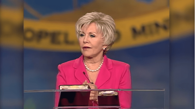 "Gloria Copeland speaking about ""Supernatural Medicine"" in November 2017 