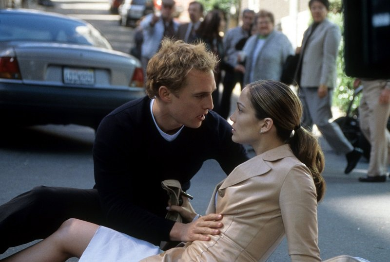"""Matthew McConaughey and Jennifer Lopez in a scene from """"The Wedding Planner"""" released in 2001   Photo: Getty Images"""