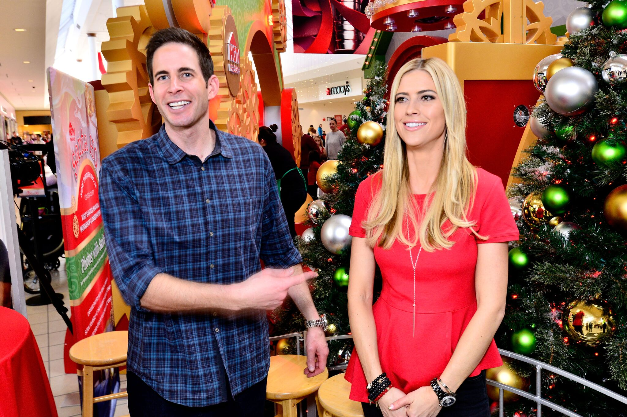 "Tarek and Christina El Moussa, hosts of HGTV's hit show ""Flip or Flop,"" visited the HGTV Santa HQ  