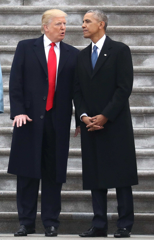 Donald J. Trump et Brack Obama. l Source : Getty Images