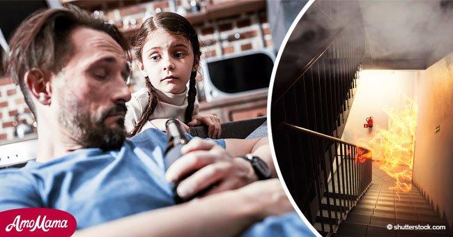 Eine Dreijährige rettet ihre betrunkenen Eltern aus dem Feuer in Madrid
