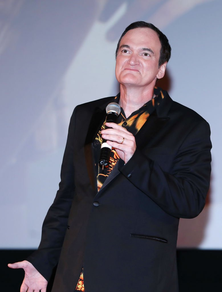 "Quentin Tarantino attends the premiere of the movie ""Once Upon a time in Hollywood"" at Oktyabr cinema hall 