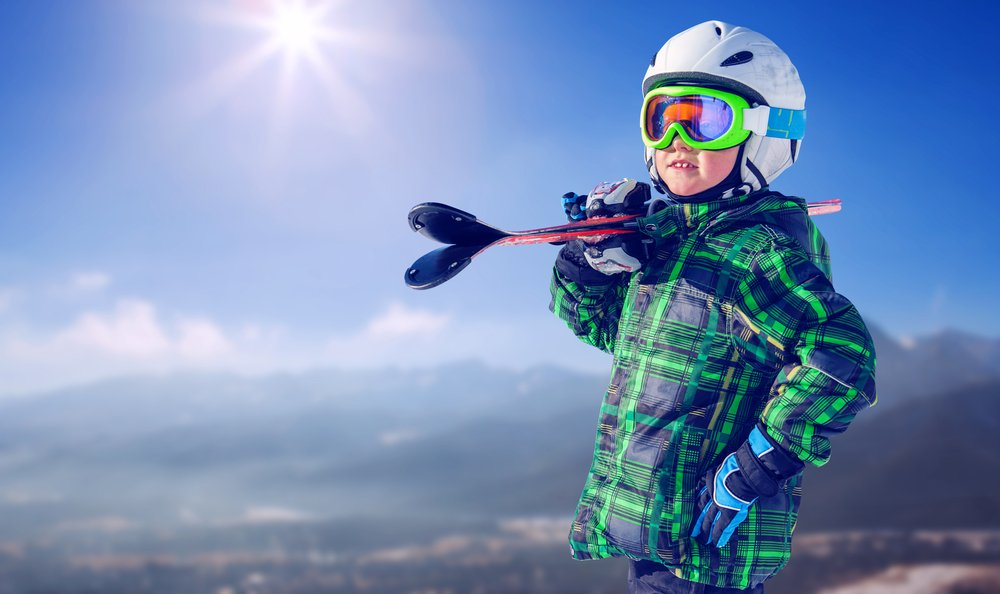 Little Johnny was determined to impress his mom with his skiing skills.   Photo: Shutterstock
