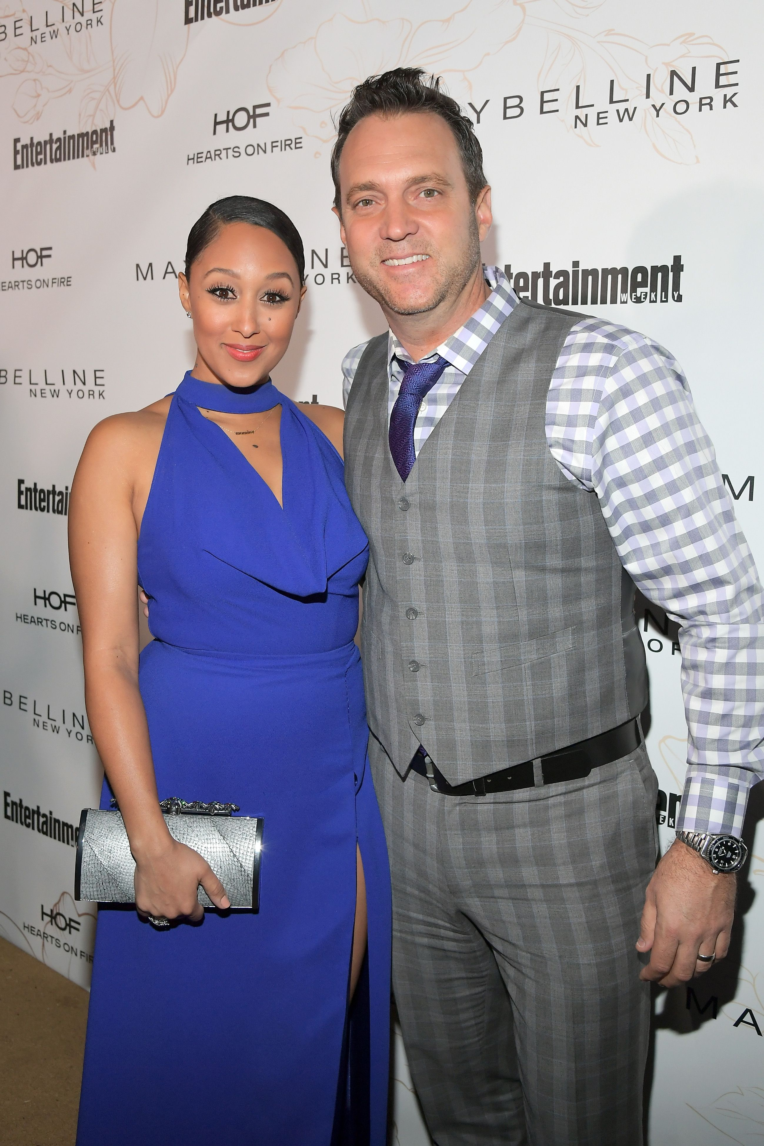 Tamera Mowry and Adam Housley attend Entertainment Weekly's Screen Actors Guild Award Nominees Celebration at Chateau Marmont on January 20, 2018 in Los Angeles, California. | Source: Getty Images