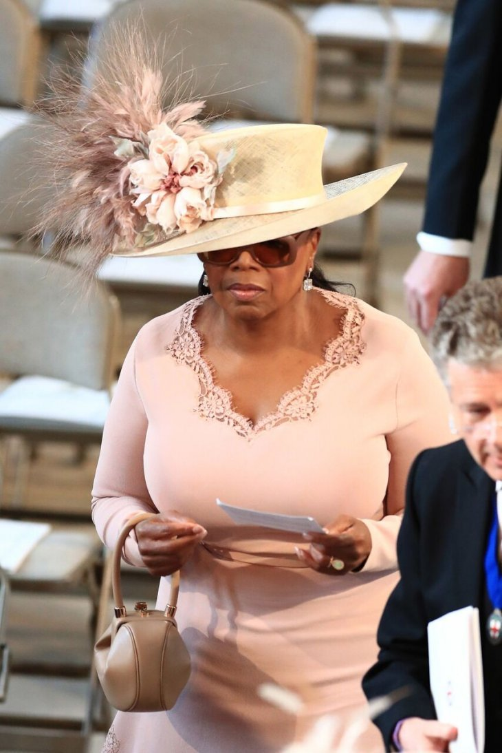Oprah Winfrey Royal Wedding.Oprah Winfrey Arrives At Prince Harry Meghan Markle S Royal