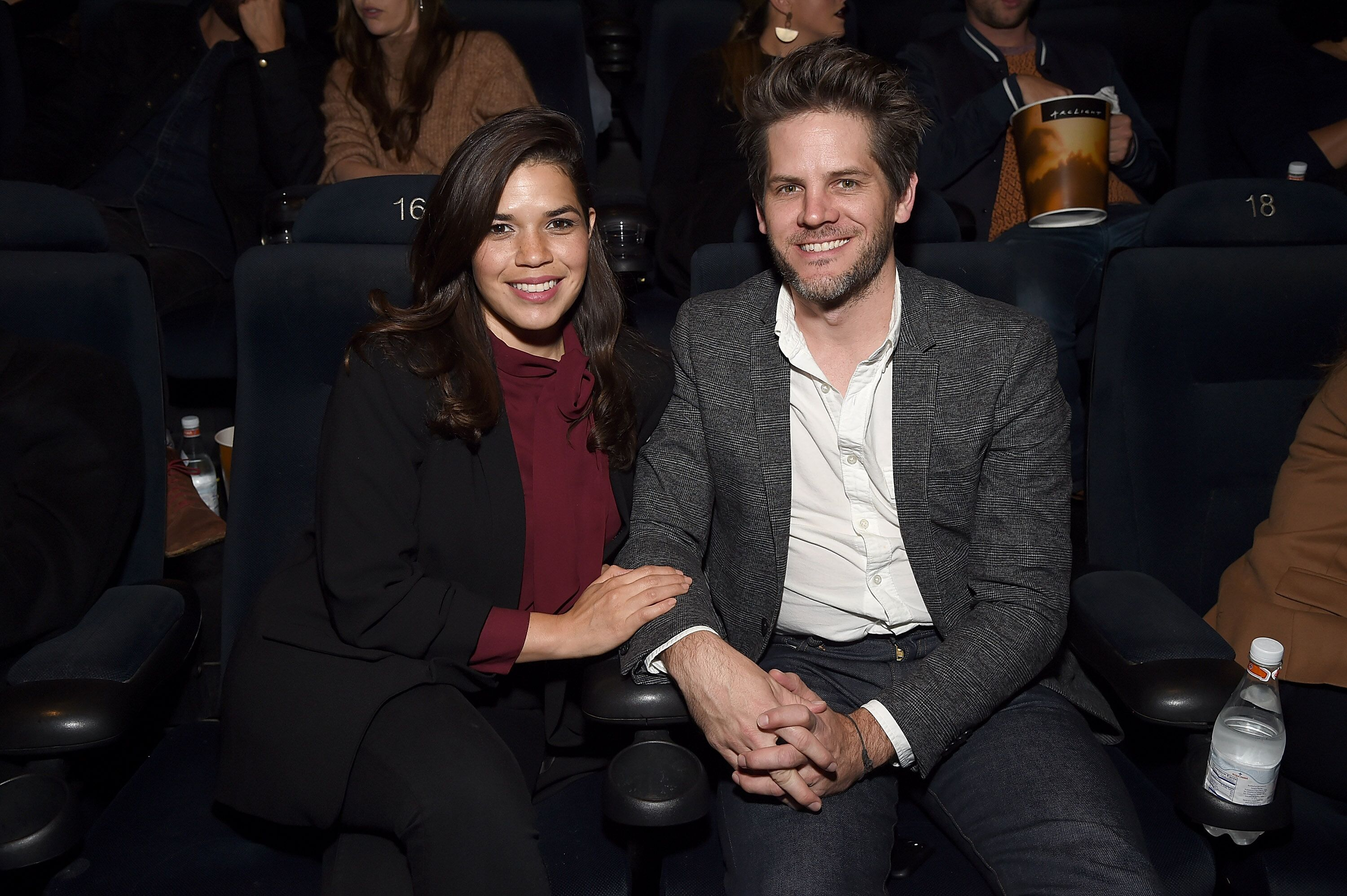 America Ferrera and Ryan Piers Williams at the Los Angeles premiere of 'Vox Lux' in 2018 | Source: Getty Images