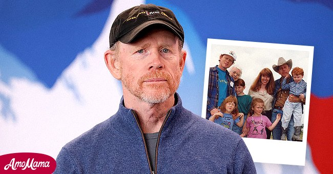 Ron Howard. Inset: Ron Howard and his family   Source: Getty Images   Instagram: Real Ron Howard