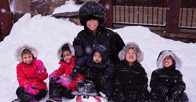 Steve Harvey's Wife Marjorie Posts Snow-Filled Pics with Their Grandchildren While on Colorado Vacation