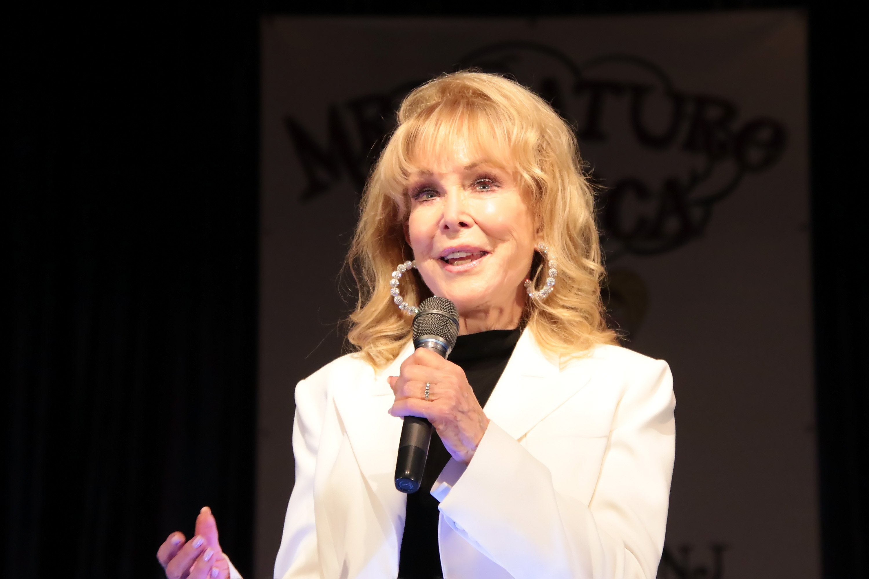 Barbara Eden, Special Guest & Emcee hosts the 2019 Mr. Mature America Pageant at the at Ocean City Music Pier on April 13, 2019 in Ocean City, New Jersey.| Source: Getty Images