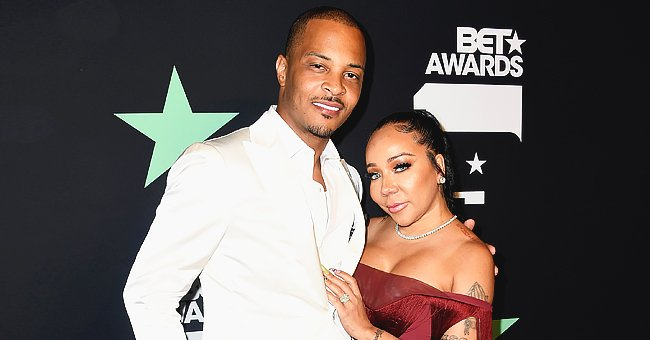 TI & Tiny Harris' Daughter Heiress Poses in a Black & Pink Spider-Girl Costume beside Spider-Man