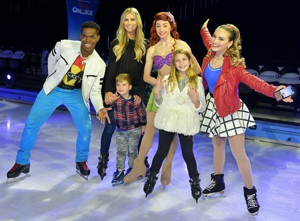 """Brayden El Moussa, Taylor El Moussa, and Christina Anstead attend 2019 Disney On Ice """"Mickey's Search Party"""" at Staples Center 