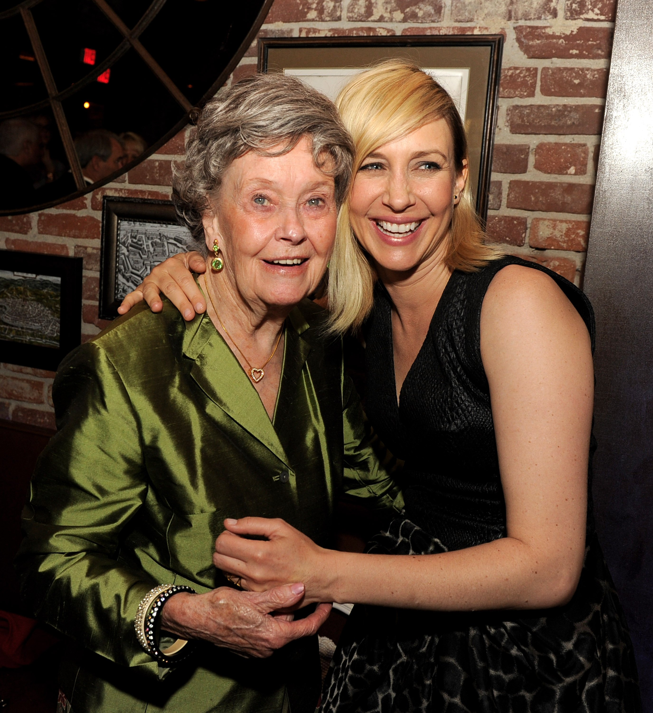 """Lorraine Warren and Vera Farmiga at the Premier of """"The Conjuring"""" in 2013 