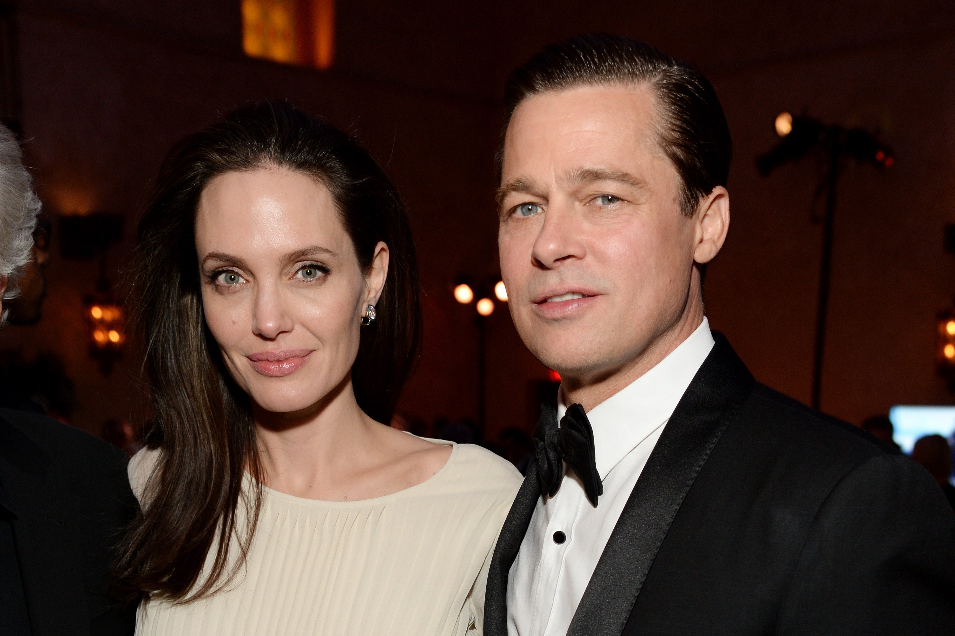 """Angelina Jolie and Brad pitt attend the after party of the """"By the Sea"""" premiere in Hollywood, California on November 5, 2015 