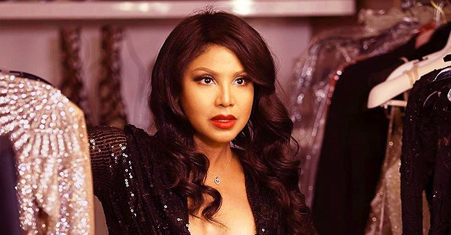 Toni Braxton Shares Photo of Herself with Long, Wavy Hair & in a Sparkly Black Dress