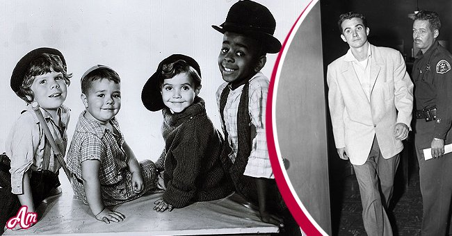 """Tommy Bond, Spanky McFarland, Scotty Beckett and Stymie Beard in a publicity shot for the """"Our Gang"""" series later to be know as """"The Little Rascals."""" Image dated January 1, 1934. Inset: Scotty Beckett 