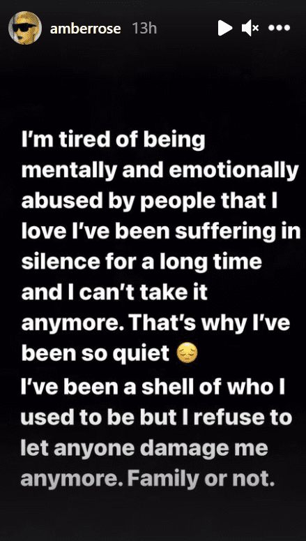 Model Amber Rose reveals she has suffered mental and emotional abuse | Source: Instagram/@amberrose