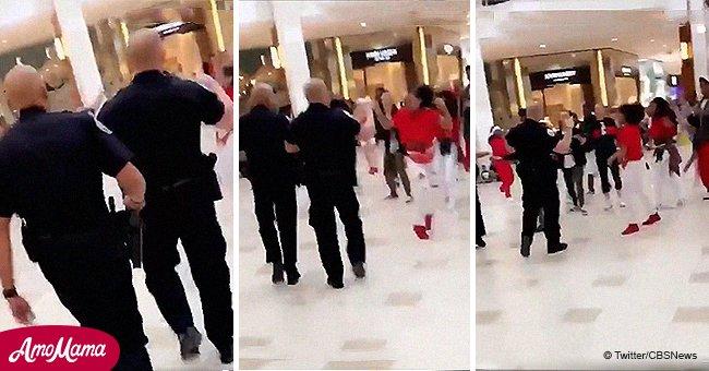La police a interrompu le flashmob de danse à l'aide d'une méthode de divertissement