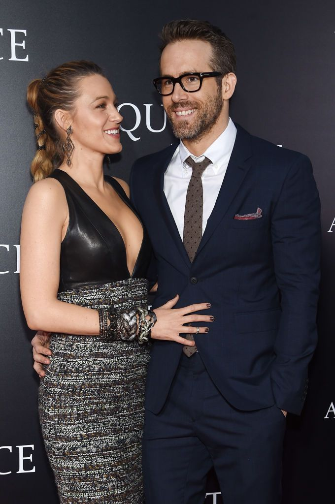 "Blake Lively and Ryan Reynolds at the premiere for ""A Quiet Place"" at AMC Lincoln Square Theater on April 2, 2018 