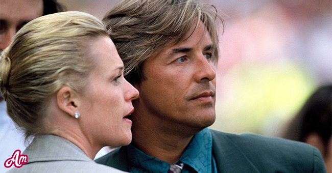 Don Johnson and Melanie Griffith at the opening ceremony of the European Summer Special Olympics on July 21, 1990. | Source: Getty Images