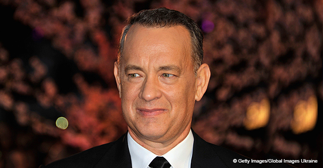 Tom Hanks' 3-Year-Old Granddaughter Rocks Pink Dress and Adorable Hair Bow in Picture with Dad