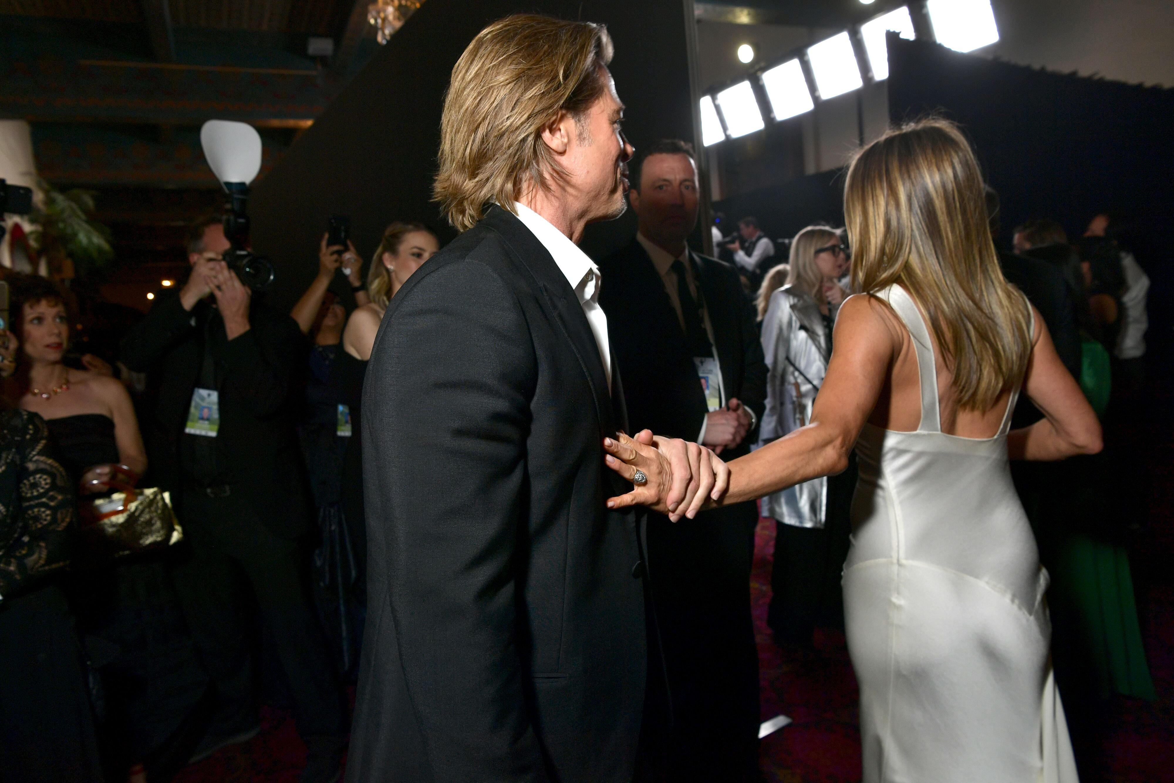Brad Pitt and Jennifer Aniston attend the 26th Annual Screen ActorsGuild Awards. | Source: Getty Images