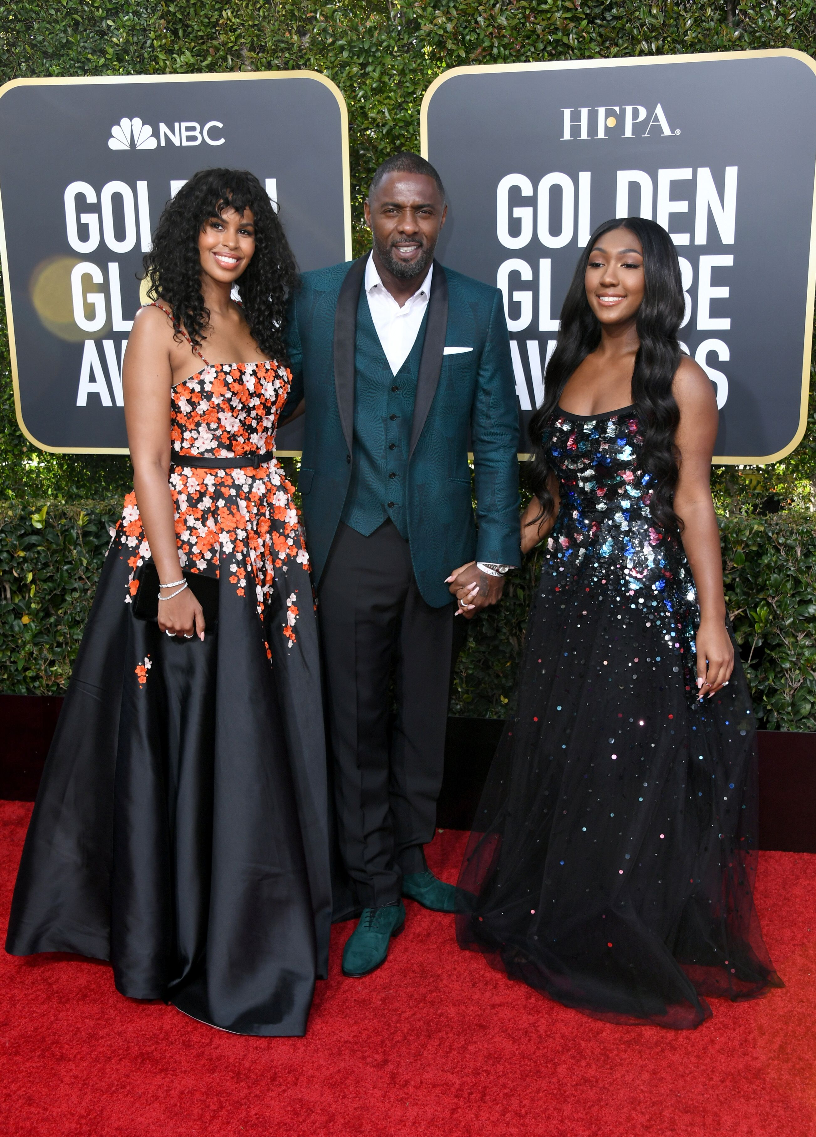 Idris Elba, his wife Sabrina Dhowre, and daughter Isan Elba at the 2019 Golden Globe Awards/ Source: Getty Images