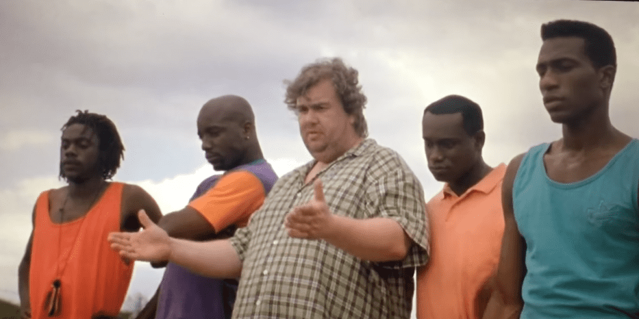 """A screenshot of a scene from """"Cool Runnings"""" 