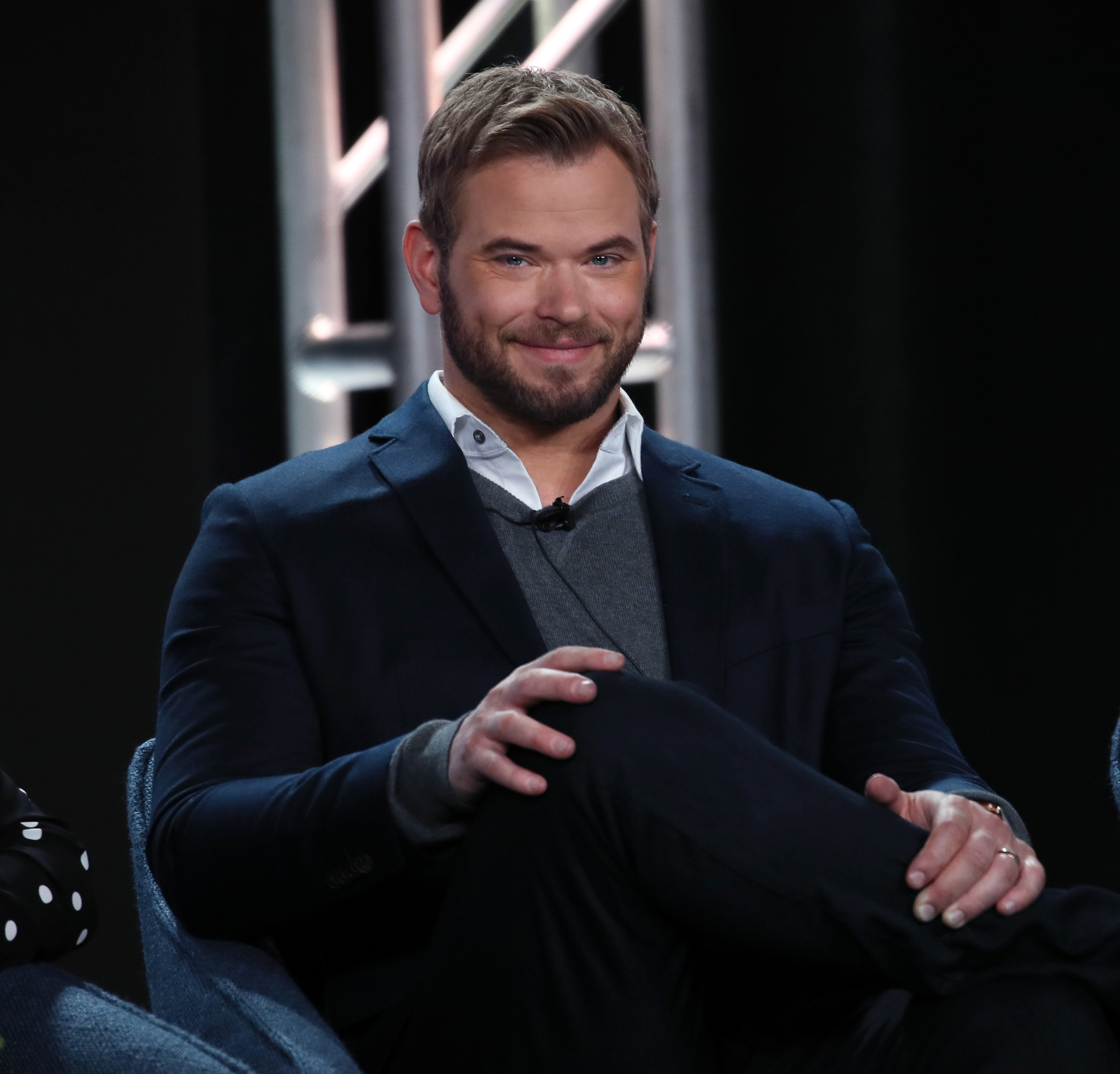 """Kellan Lutz of """"FBI: The Most Wanted"""" speaks during the CBS segment of the 2020 Winter TCA Press Tour on January 12, 2020"""