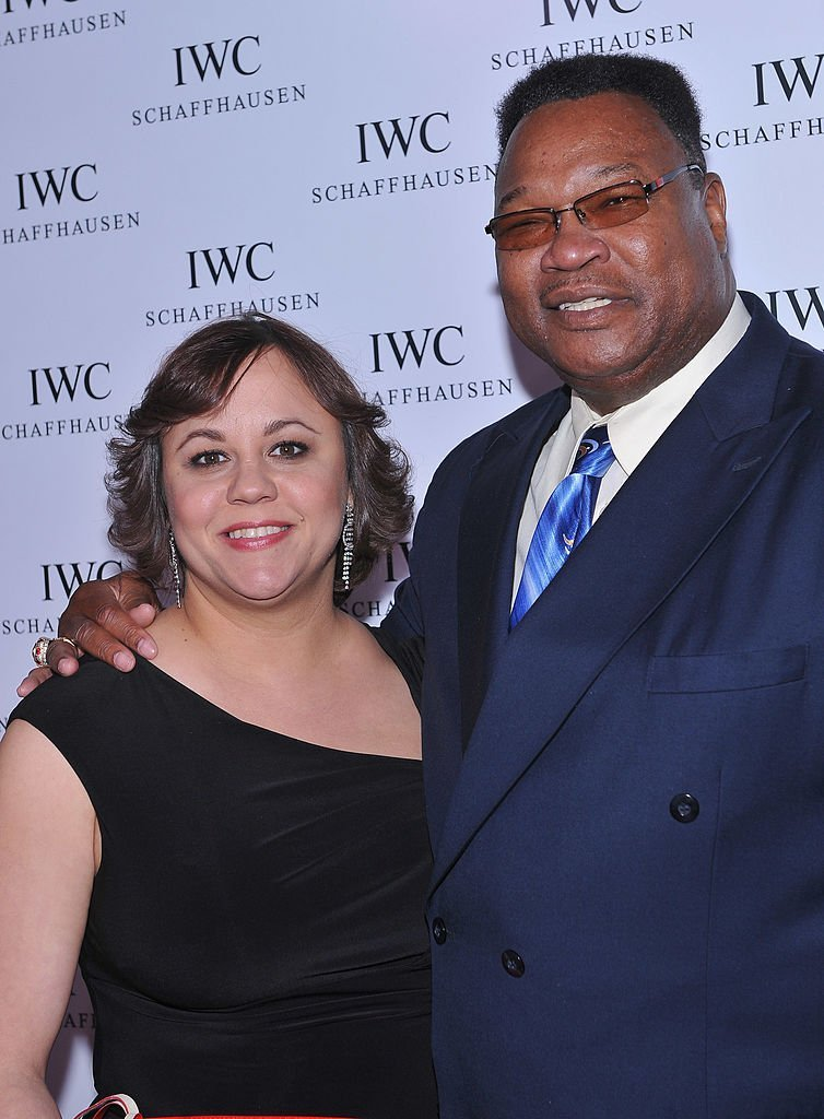 Miya Ali and Boxer Larry Holmes attend IWC Flagship Boutique New York City Grand Opening at IWC Boutique  | Getty Images