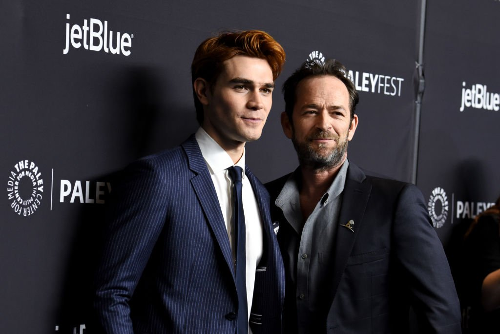 "KJ Apa and Luke Perry attend PaleyFest Los Angeles 2018 ""Riverdale"" at Dolby Theatre on March 25, 2018 