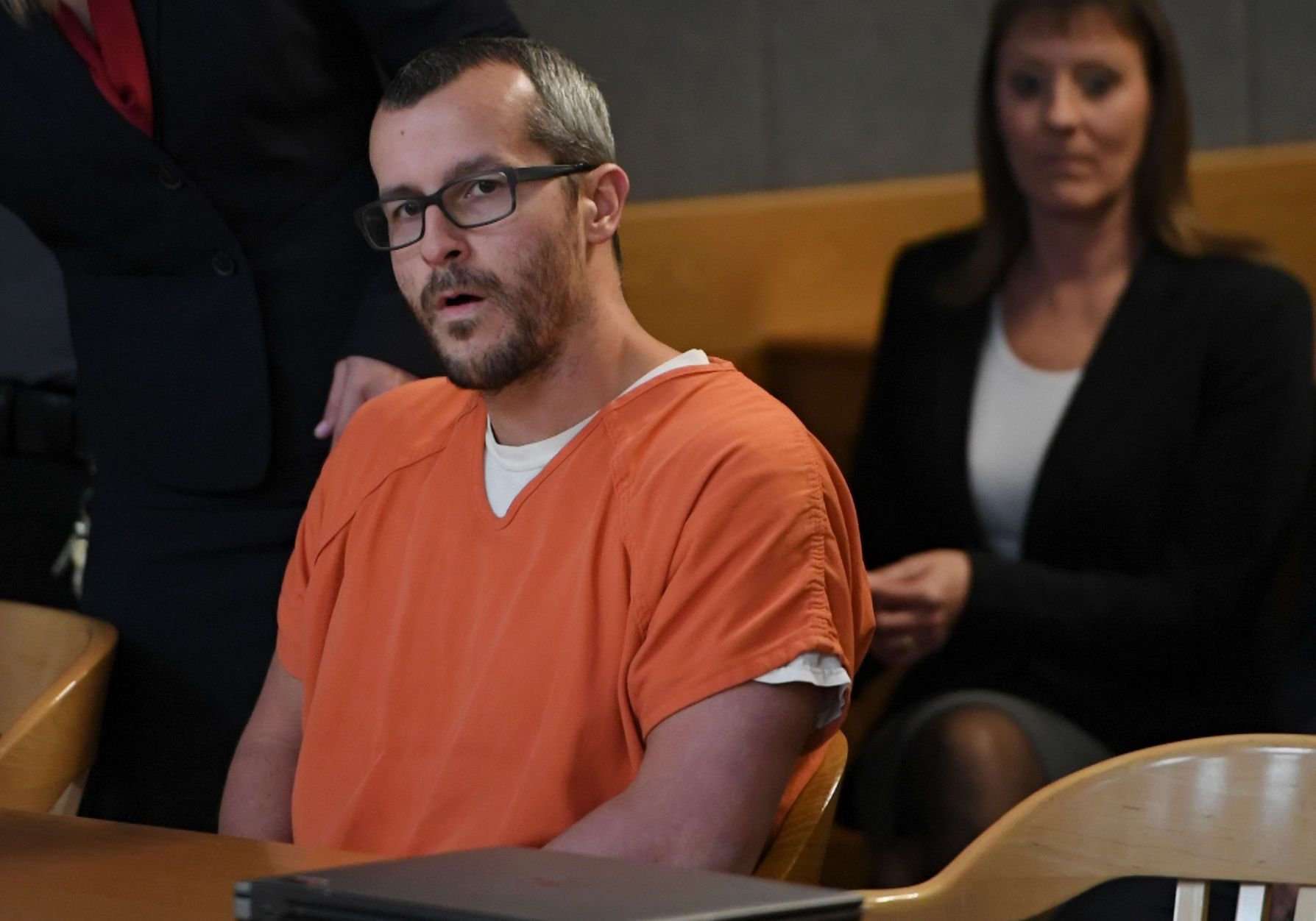 Christopher Watts sat in court for his sentencing hearing at the Weld County Courthouse on November 19, 2018 in Greeley, Colorado | Photo: Getty Images