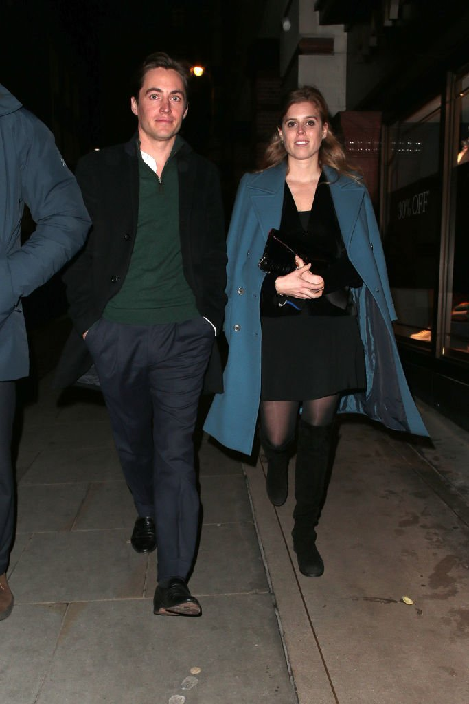 Edoardo Mapelli Mozzi and Princess Beatrice of York seen leaving Fayre of St James Christmas Carol Concert held at St James's Church on November 26, 2019 in London, England. | Photo: Getty Images