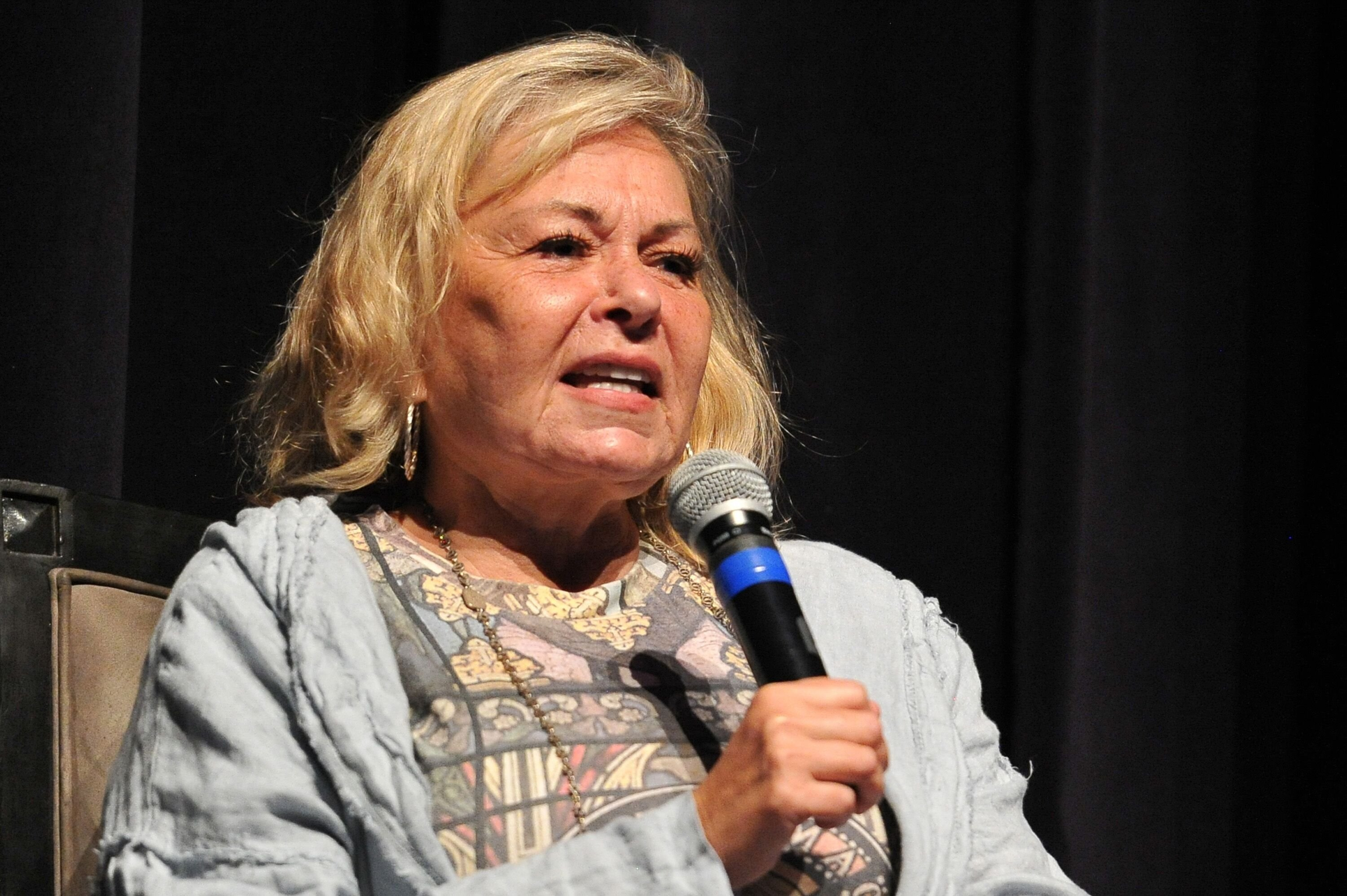 "Roseanne Barr participates in ""Is America a Forgiving Nation?,'' a Yom Kippur eve talk on forgiveness hosted by the World Values Network and the Jewish Journal at Saban Theatre on September 17, 2018 in Beverly Hills, California 