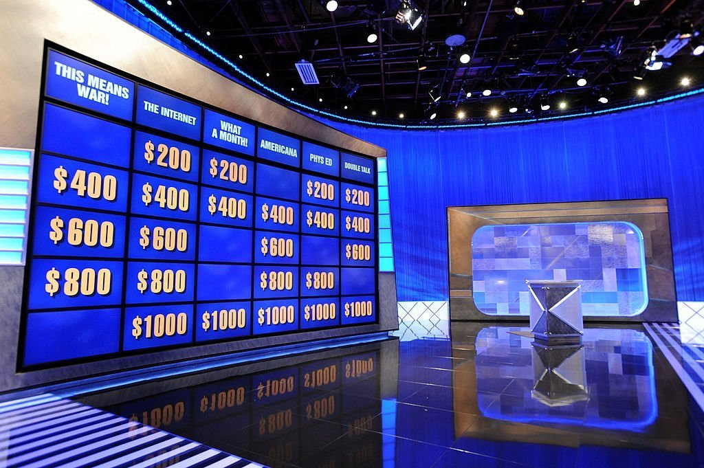 """A general view of the """"Jeopardy!"""" set in Culver City, California on April 17, 2010 