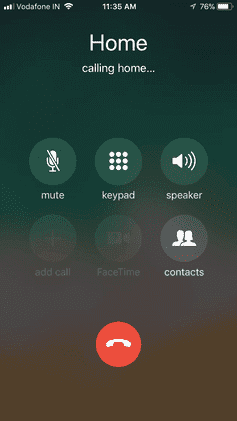The iPhone's screen when a call is in progress. | Source: Wikimedia Common Images